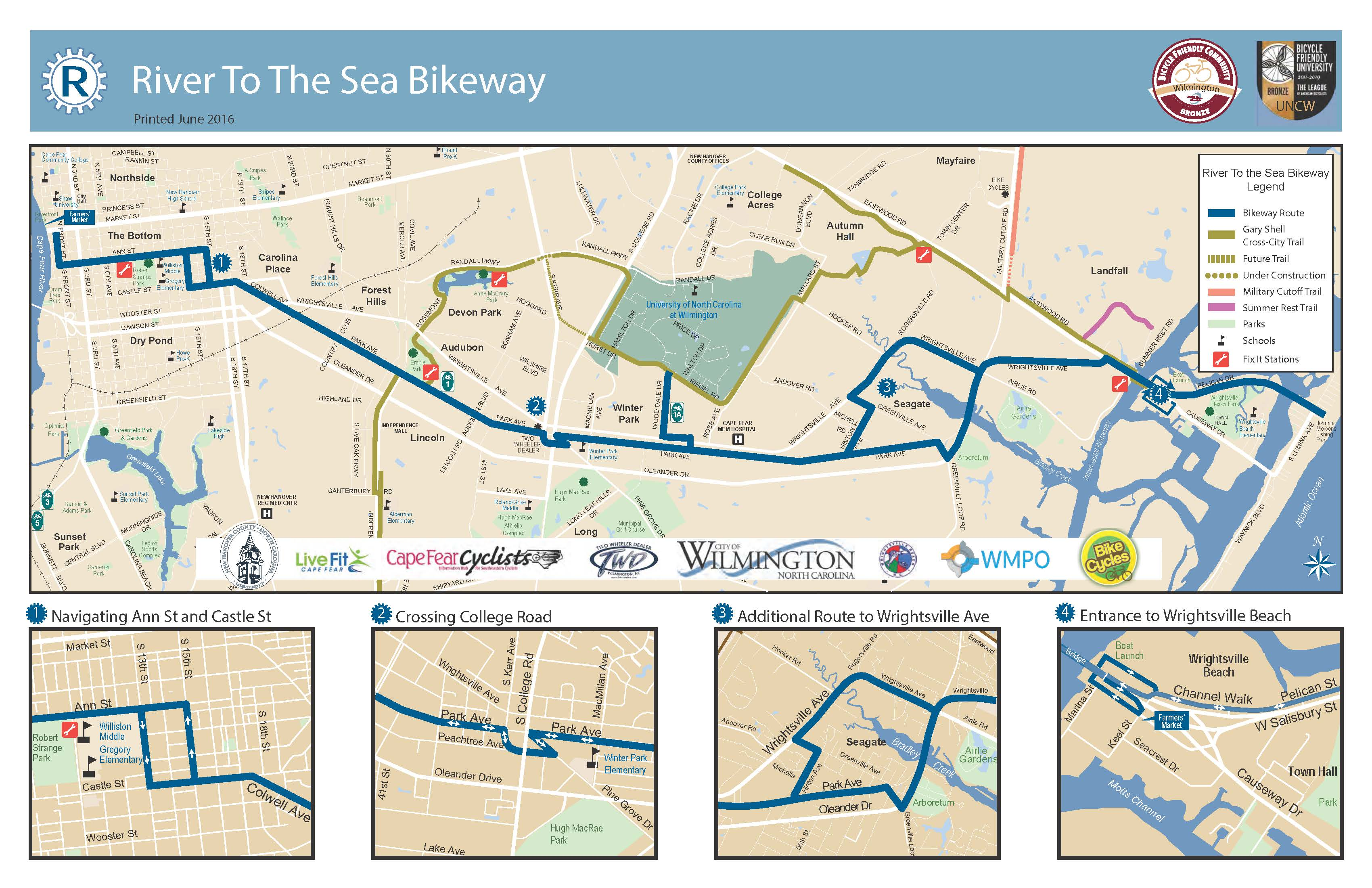 River To The Sea Bikeway In Wilmington Nc
